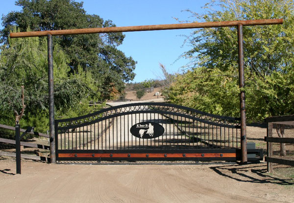Wrought Iron Sliding Driveway Gate Riverside