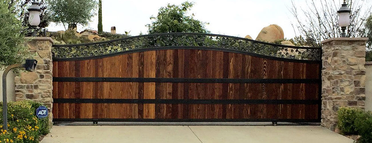 Entry Gates Temecula, CA - Wrought Iron, Wood | Custom Automated